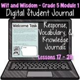 Wit & Wisdom Grade 5 Module 1: Lessons 29 - 35 | Google Sl