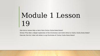 Wit & Wisdom Kindergarten Module 1 Lesson 19
