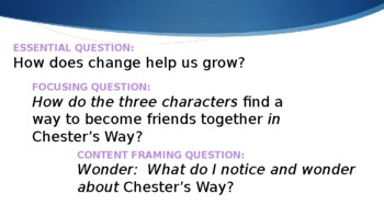 Wit & Wisdom Module 0 - Chester's WAy