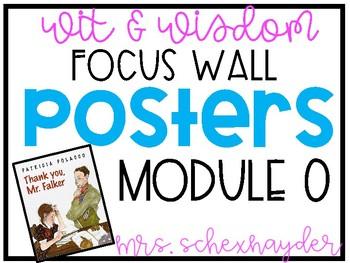 Wit & Wisdom Module 0 Focus Wall by Alyssa Schexnayder | TpT