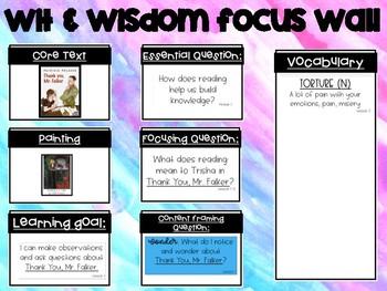 Wit & Wisdom Module 0 Focus Wall