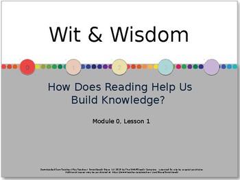 Wit & Wisdom Module 0 - Lesson 1 PowerPoint & Lesson Guide