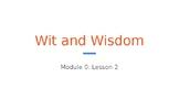 Wit & Wisdom Module 0 - Lesson 2