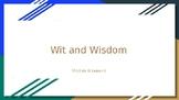 Wit & Wisdom Module 0 - Lesson 4