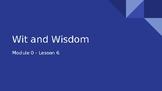 Wit & Wisdom Module 0 - Lesson 6