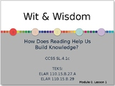 Wit & Wisdom Module 0 bundle