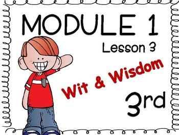 Wit & Wisdom: Module 1, Lesson 3 for 3rd Grade