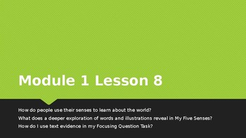 Wit & Wisdom Module 1 Lesson 8 Kindergarten