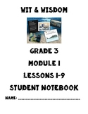 Wit & Wisdom Grade 3 Module 1 Lessons 1-9 Notebook