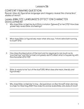 Wit & Wisdom Module 1 Lessons 26-29 Response Journal