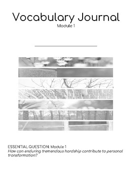Wit & Wisdom Module 1 Vocabulary Journal