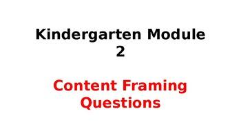 Wit & Wisdom Module #2 Kindergarten Content Framing Questions