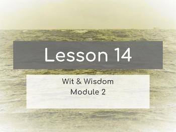 Wit & Wisdom Module 2 Lesson 14 PowerPoint