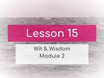 Wit & Wisdom Module 2 Lesson 15 PowerPoint