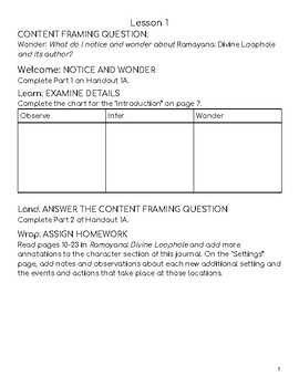 Wit & Wisdom Module 2 Lessons 1-9 Response Journal