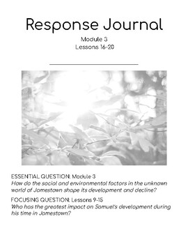 Wit & Wisdom Module 3 Lessons 16-20 Response Journal
