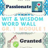 Wit & Wisdom Vocabulary Cards Grade 1 Module 1