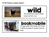 Wit & Wisdom Vocabulary Cards Module 0 K-2 Wild about Books