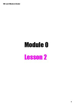 Wit and Wisdom Module 0 3-5 Lesson 2 PDF Interactive Binder Mr. Falker