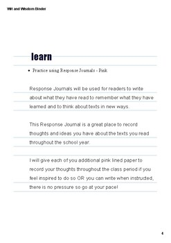 Wit and Wisdom Module 0 3-5 Lesson 3 PDF Interactive Binder Mr. Falker