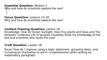 Wit and Wisdom 3rd Grade Module 1 Lesson 18