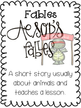 Wit and Wisdom Aesop Fables Focus Posters
