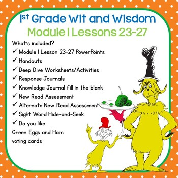 Wit and Wisdom-First Grade Module 1 Lessons 23-27
