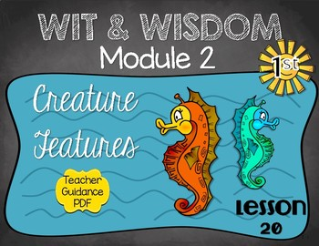 Wit and Wisdom First Grade Module 2 Lesson 20
