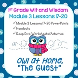 Wit and Wisdom-First Grade Module 3 Lessons 17-20