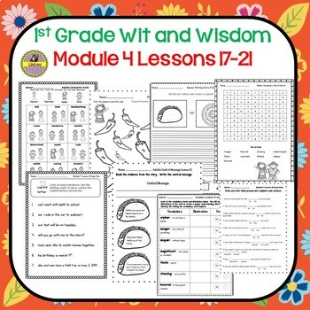 Wit and Wisdom-First Grade Module 4 Lesson 17-21 Companion Resource
