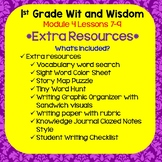 Wit and Wisdom-First Grade Module 4 Lessons 7-9 Extra Resources