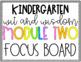 Wit and Wisdom Focus Board GROWING BUNDLE