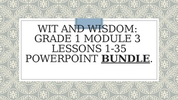 Wit And Wisdom Grade 1 Worksheets & Teaching Resources | TpT