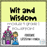 Wit and Wisdom Grade 1 Module 4 Lesson 1 Powerpoint FREEBIE