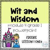 Wit and Wisdom Grade 1 Module 4 Lesson 1 Powerpoint FREEBIE