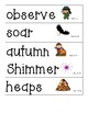 Wit and Wisdom Grade 2 Module 1 Word Wall Cards