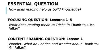 Wit and Wisdom Grade 3 Module 0 Lesson 1