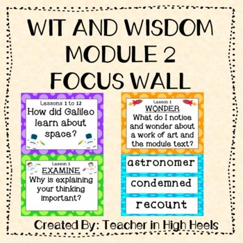 Wit and Wisdom Grade 3 Module 2 Focus Wall