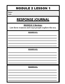 Wit and Wisdom Grade 3 Module 2 Journal Pages