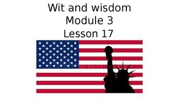 Wit and Wisdom Grade 3 Module 3 Lesson 17