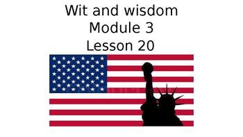 Wit and Wisdom Grade 3 Module 3 Lesson 20