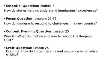 Wit and Wisdom Grade 3 Module 3 Lesson 25