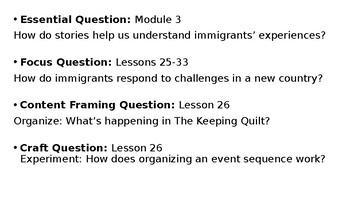 Wit and Wisdom Grade 3 Module 3 Lesson 26