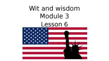 Wit and Wisdom Grade 3 Module 3 Lesson 6