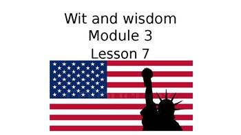 Wit and Wisdom Grade 3 Module 3 Lesson 7