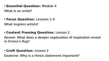 Wit and Wisdom Grade 3 Module 4 Lesson 2