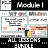 Wit and Wisdom Grade 4 Module 1 Lesson Guide BUNDLE