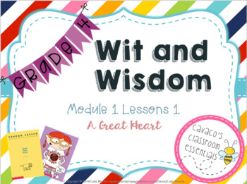 Wit and Wisdom Grade 4 Module 1 Lessons 1-6