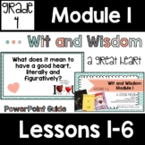 Wit and Wisdom Grade 4 Module 1 Lessons 1-6  Lesson Guide