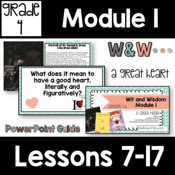 Wit and Wisdom Grade 4 Module 1 Lessons 7-17 Lesson Guide